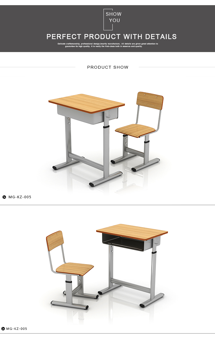 School Furniture Desk With Chairs
